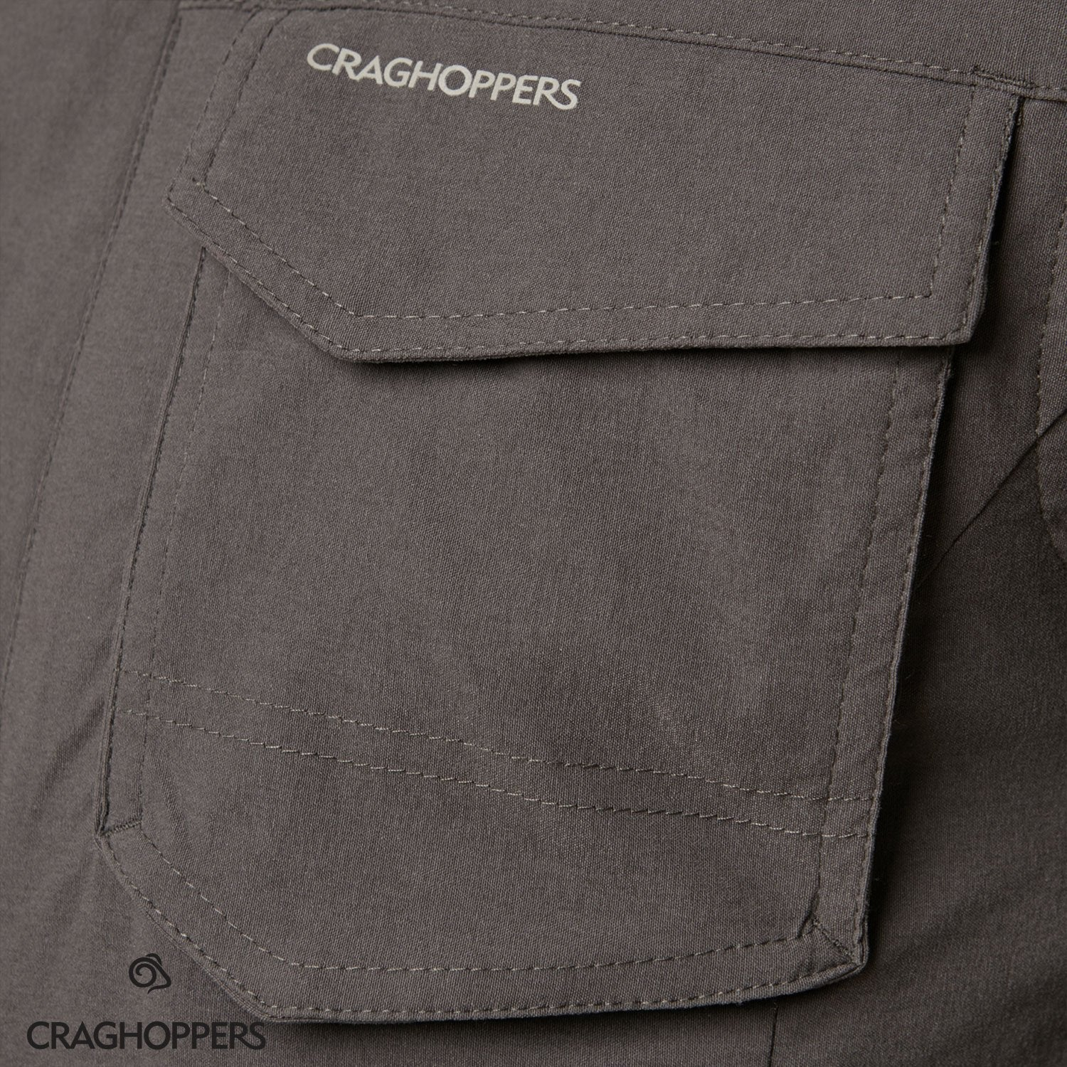 Flap covered chest pocket