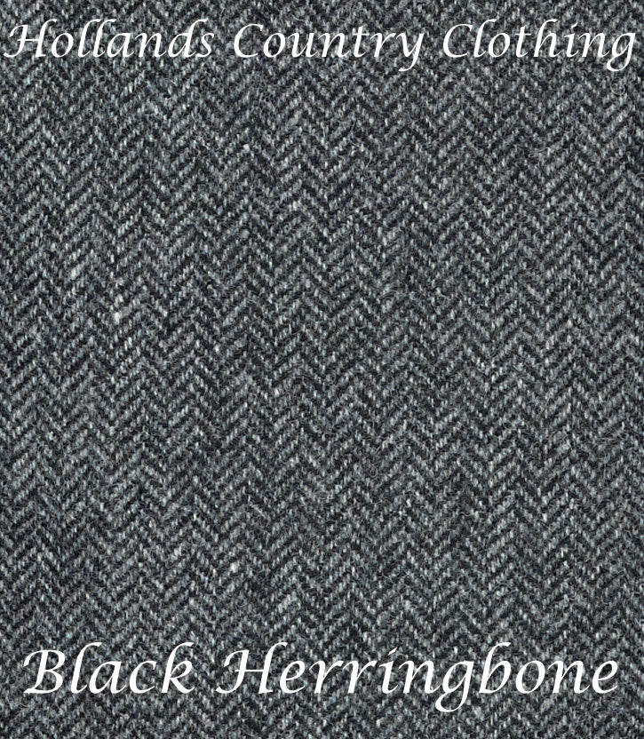 colour swatch Jack Murphy Elena Tweed Coat - Black Herringbone