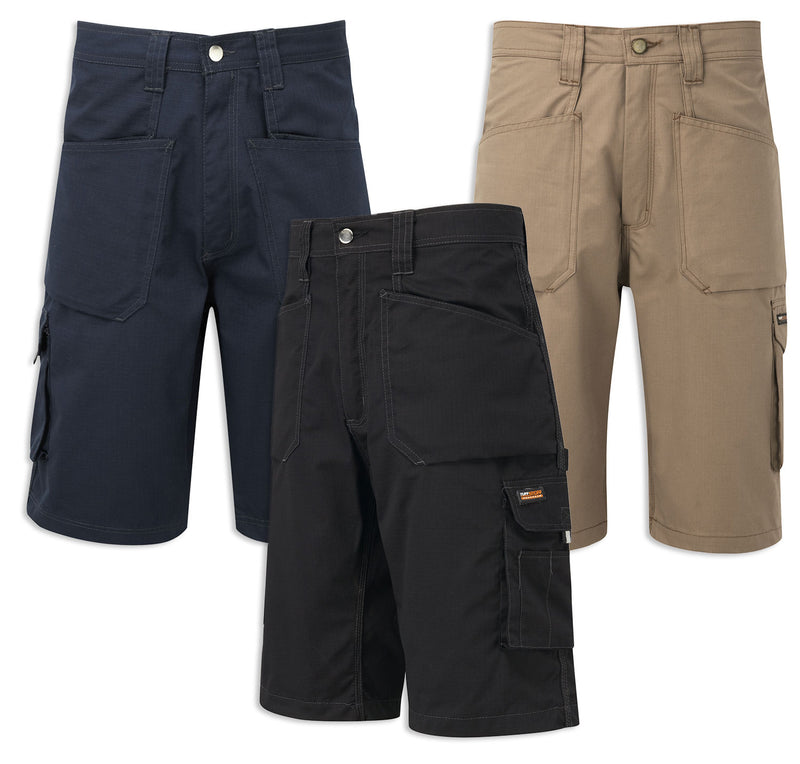 Castle Tuffstuff Endurance Ripstop Work Shorts | Black, Navy, Stone