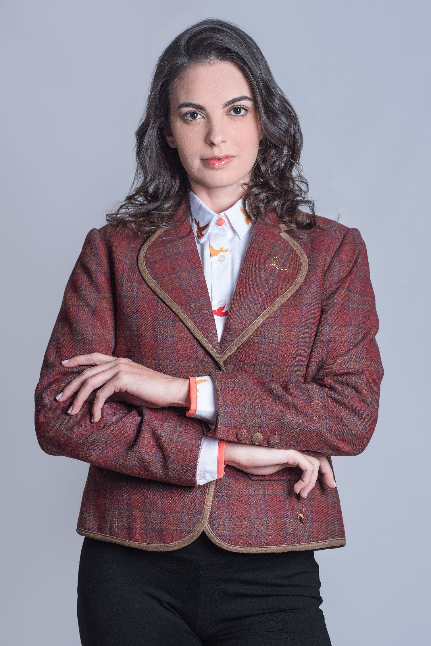 Hartwell Esther Tweed Jacket | Brown Check