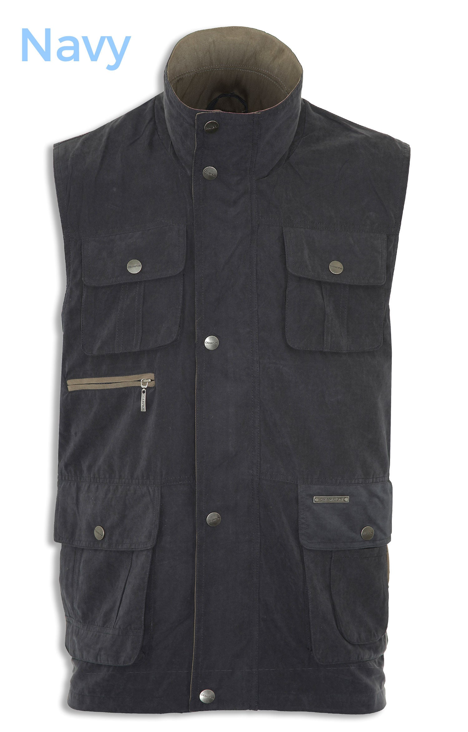 navy Champion Farnham Light weight Multi Pocket Bodywarmer vest