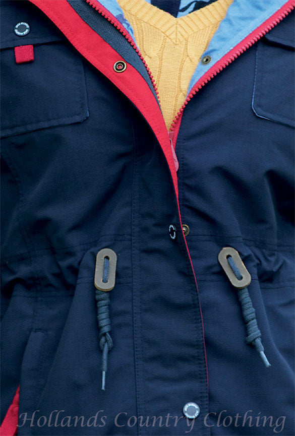zip detail Jack Murphy Farrah Waterproof Coat