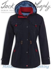 navy Jack Murphy Farrah Waterproof Coat