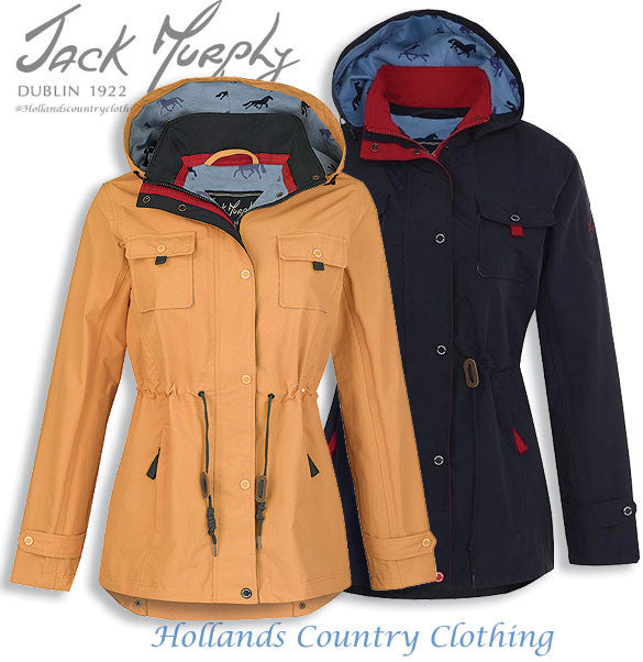 Jack Murphy Farrah Waterproof Coat	in two colours