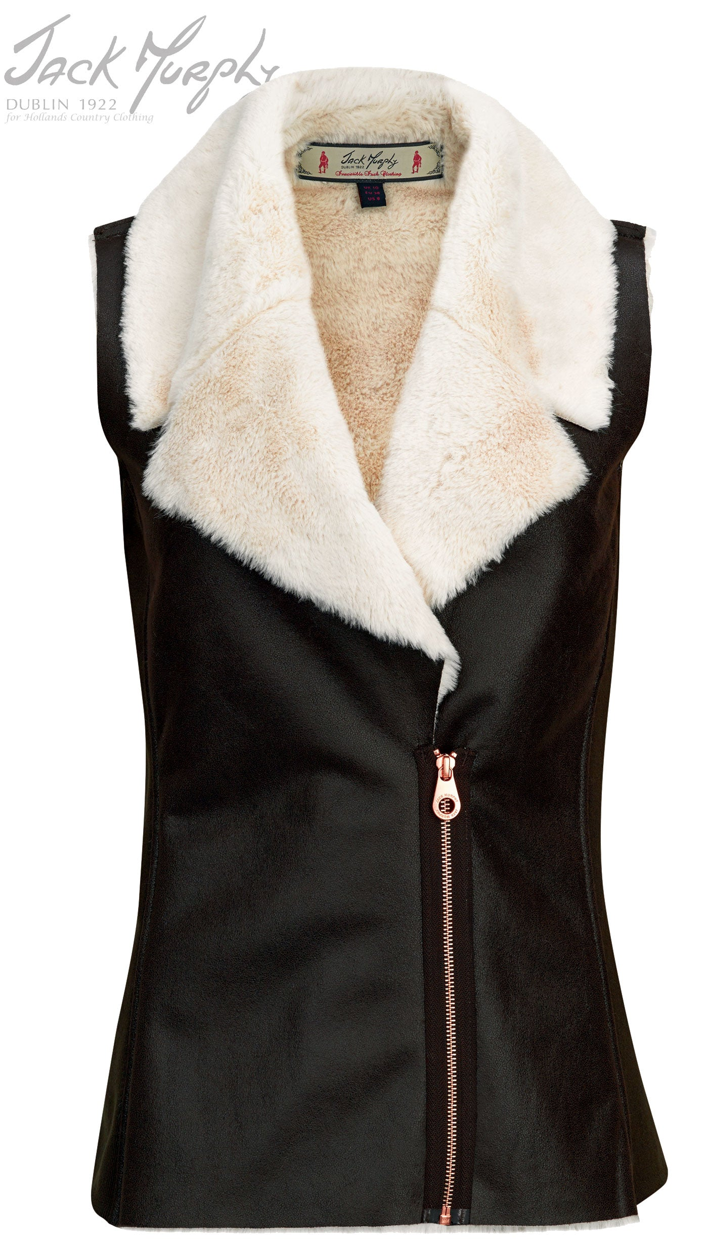 coffe and cream Jack murphy Sia Faux Fleece Vest gilet