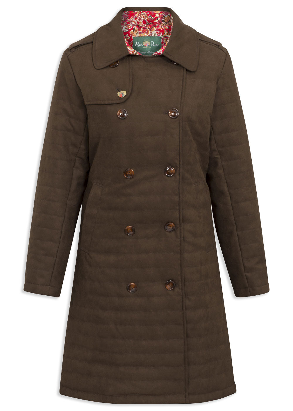 Alan Paine Ladies Felwell Quilted Coat Brown