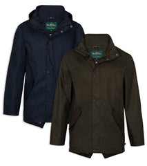 Alan Paine Fernley Waterproof Parka | Woodland Green, Navy Blue