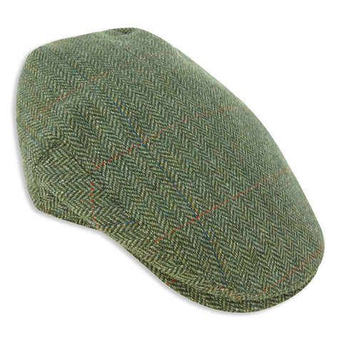 Hoggs of Fife Helmsdale Tweed Flat Cap | Waterproof
