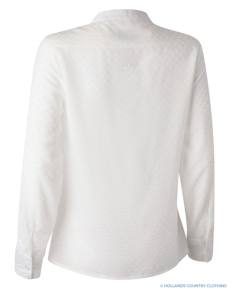 Back view Fiona Ladies Pleated Front Shirt by Hartwell
