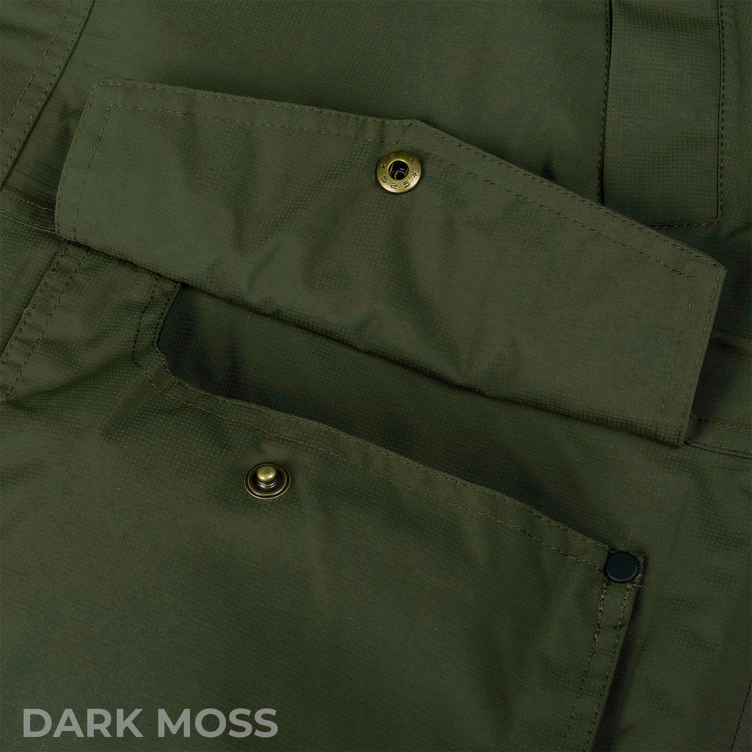 Scoop pocket with flap covering