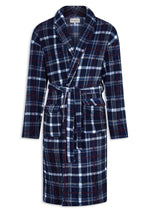 Champion Bayswater Fleece Dressing Gown | Navy Check