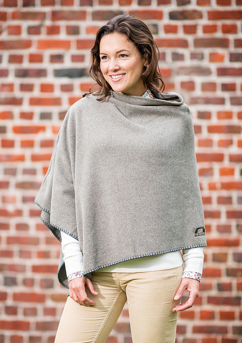 slate Grey A classically styled lightweight marled poncho in three beautiful colours