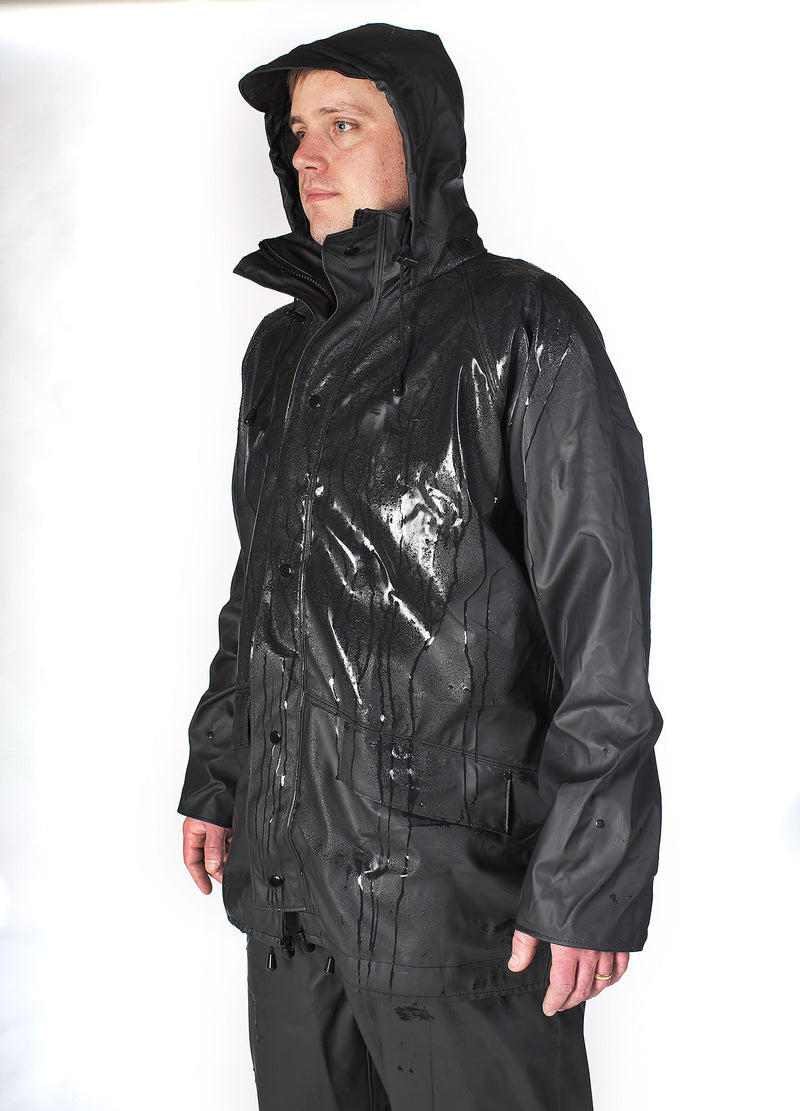 Man wearing Castle Airflex Fortex Breathable Waterproof Jacket