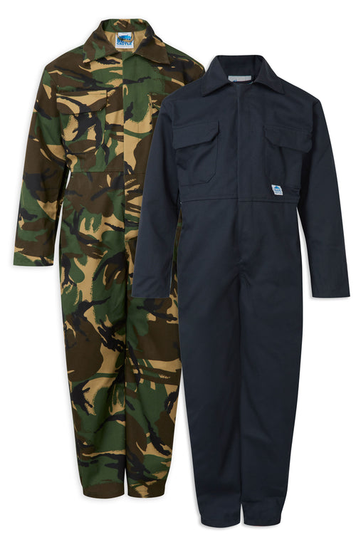 Castle Fort Tearaway Junior Coverall | Navy, Woodland Camo