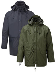 FLEX Fleece Lined waterproof jacket GREEN Fortexfleece 219 Olive  and Navy