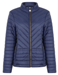 Navy Champion Frimley Baffle Quilted Jacket
