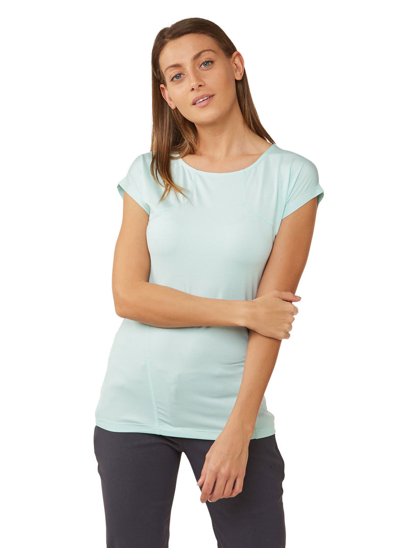 Ladies Fusion Tee Shirt by Craghoppers Capri Blue