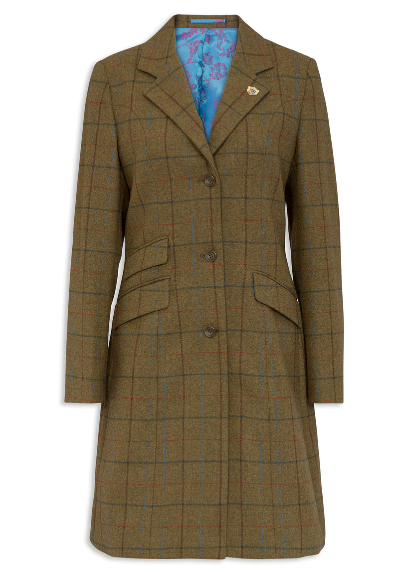 Alan Paine Combrook Mid-Length Tweed Coat | Gorse