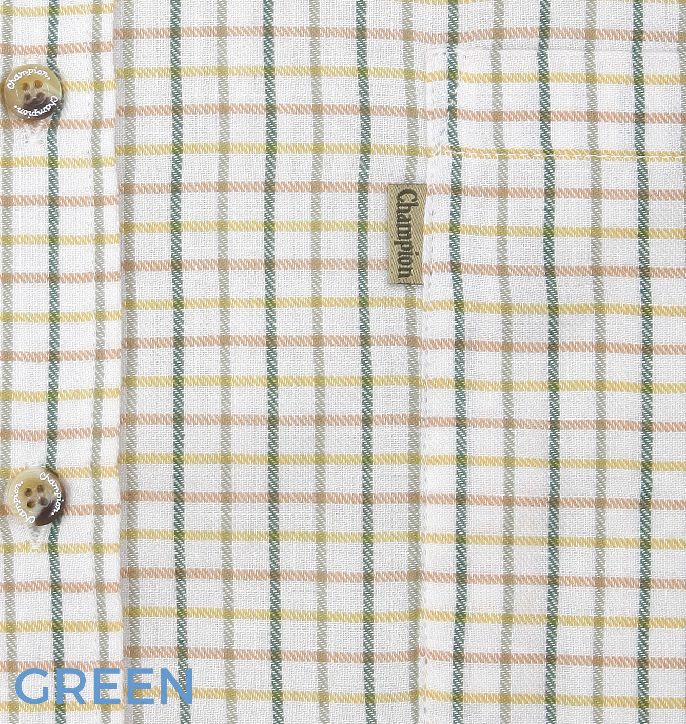 green gold brown tattersall check