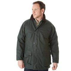 Green Sherwood Forest Classic Padded Wax Jacket