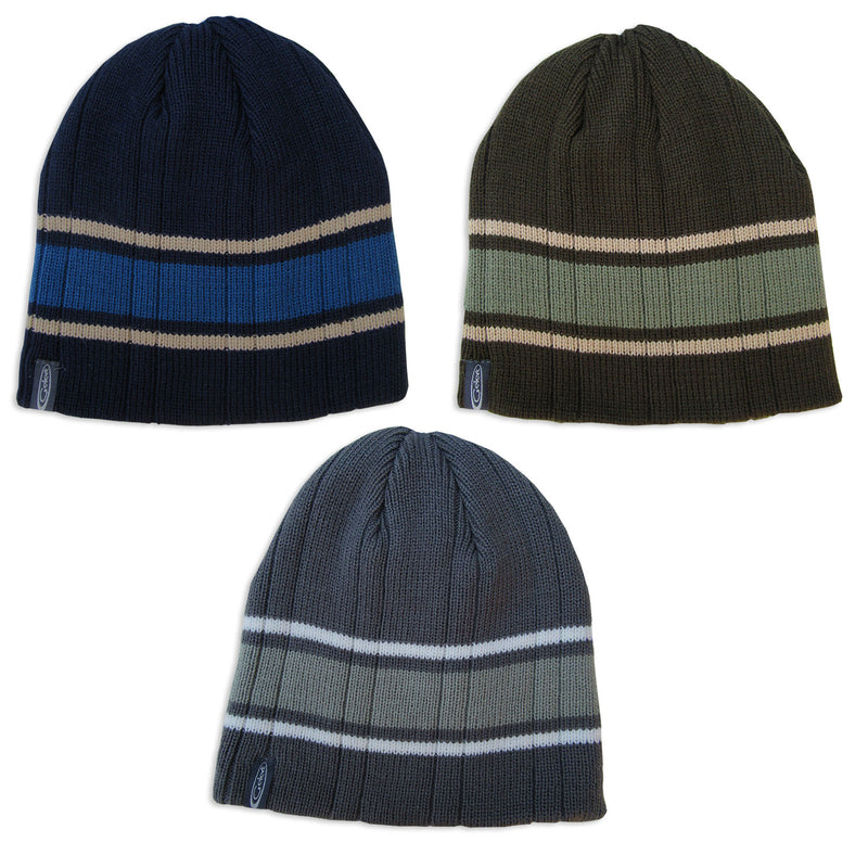 Gelert Men's Striped Beanie Hat