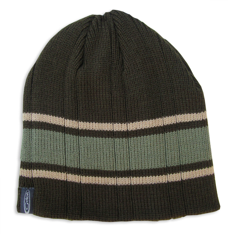Green Tan Gelert Men's Striped Beanie Hat