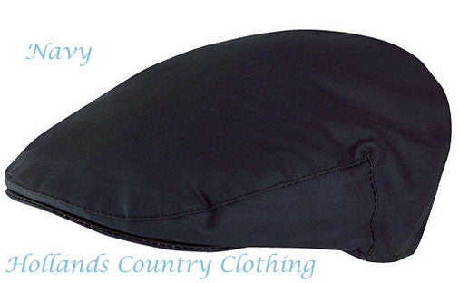 Mens Quality Fully Lined Traditional Wax Cotton Flat Cap 3 Colours 4 Sizes