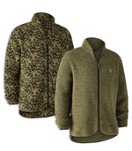 Deerhunter Germania Fibre Pile Fleece Jacket | Cypress Green and Camouflage