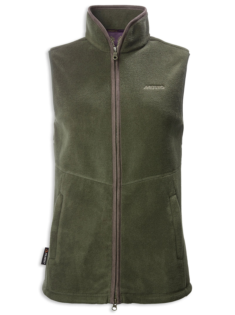Dark Moss Musto Ladies Glemsford Polartec Fleece Gilet