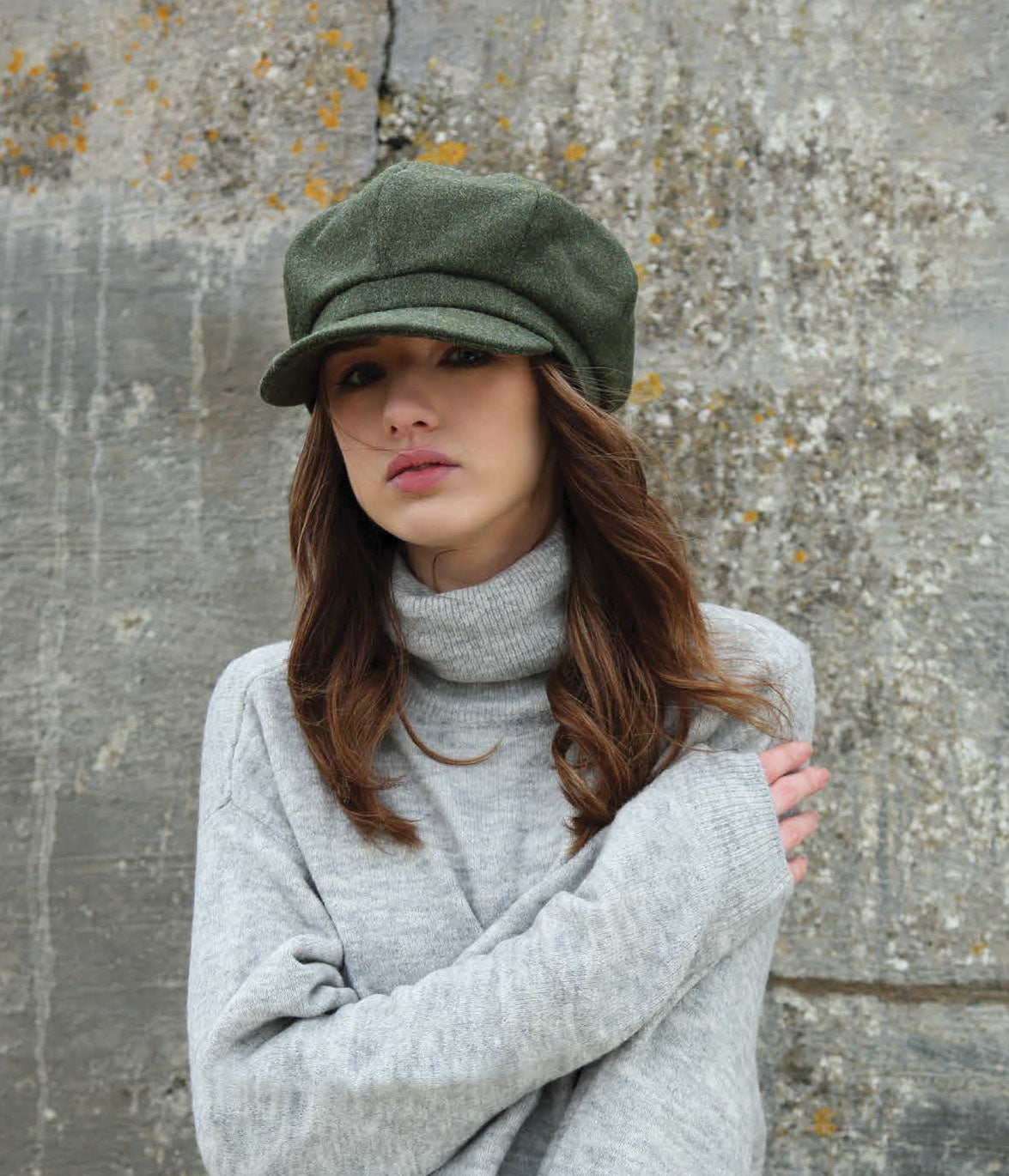 Ladies' Baggy Eight Panel Tweed Cap by Hanna Hats of Donegal
