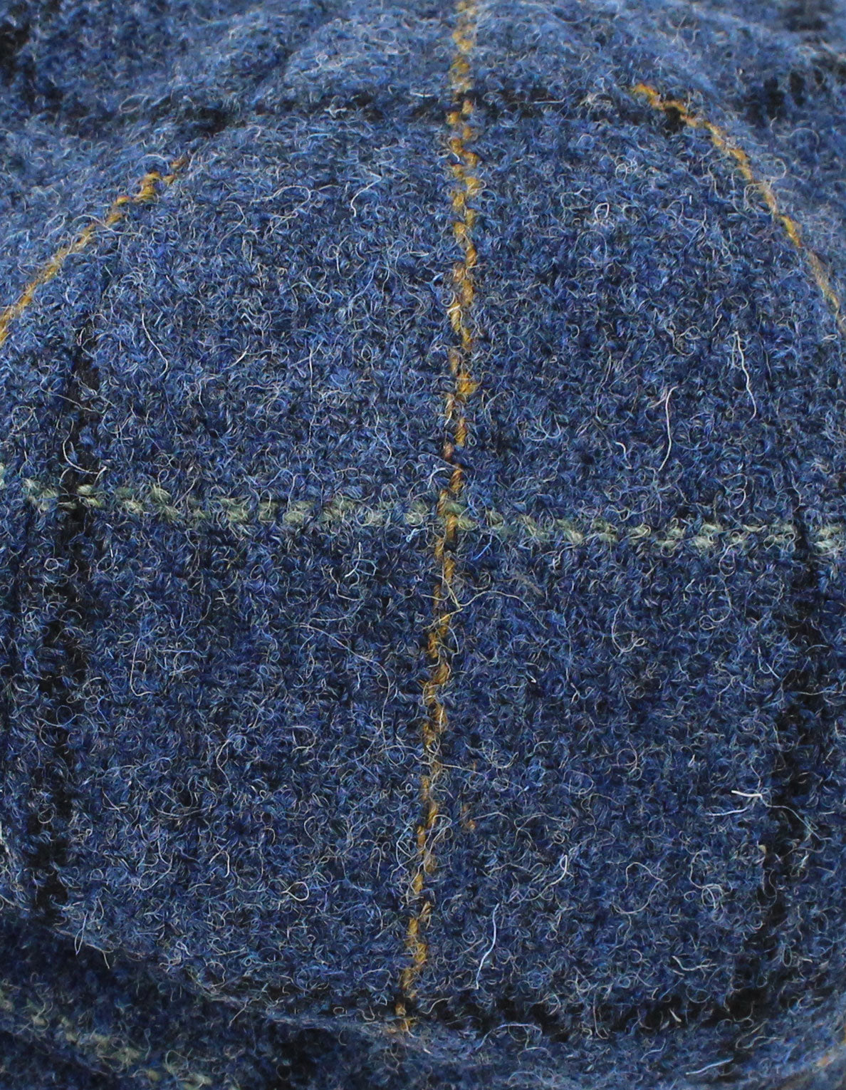 Tweed Colour; Blue with gold, black and light green windowpane check