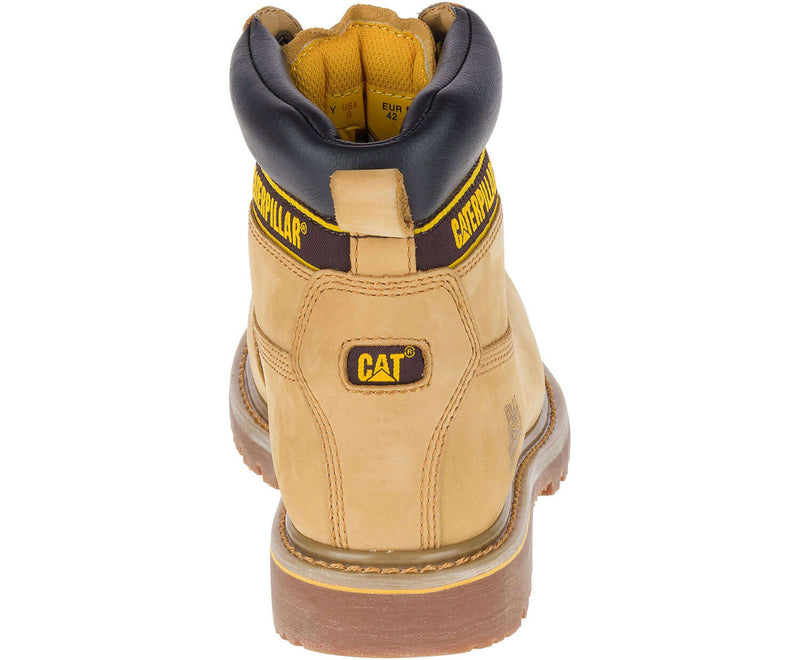 Back view Caterpillar Holton Leather Safety Boot