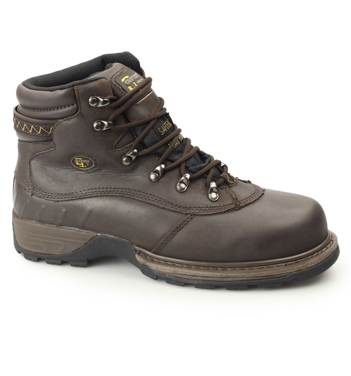 Grafters® Waterproof Safety Boot M139B Steel toe brown waxy leather