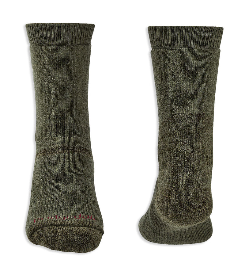 Heel and toe Green Bridgedale Explorer Heavyweight Boot Sock