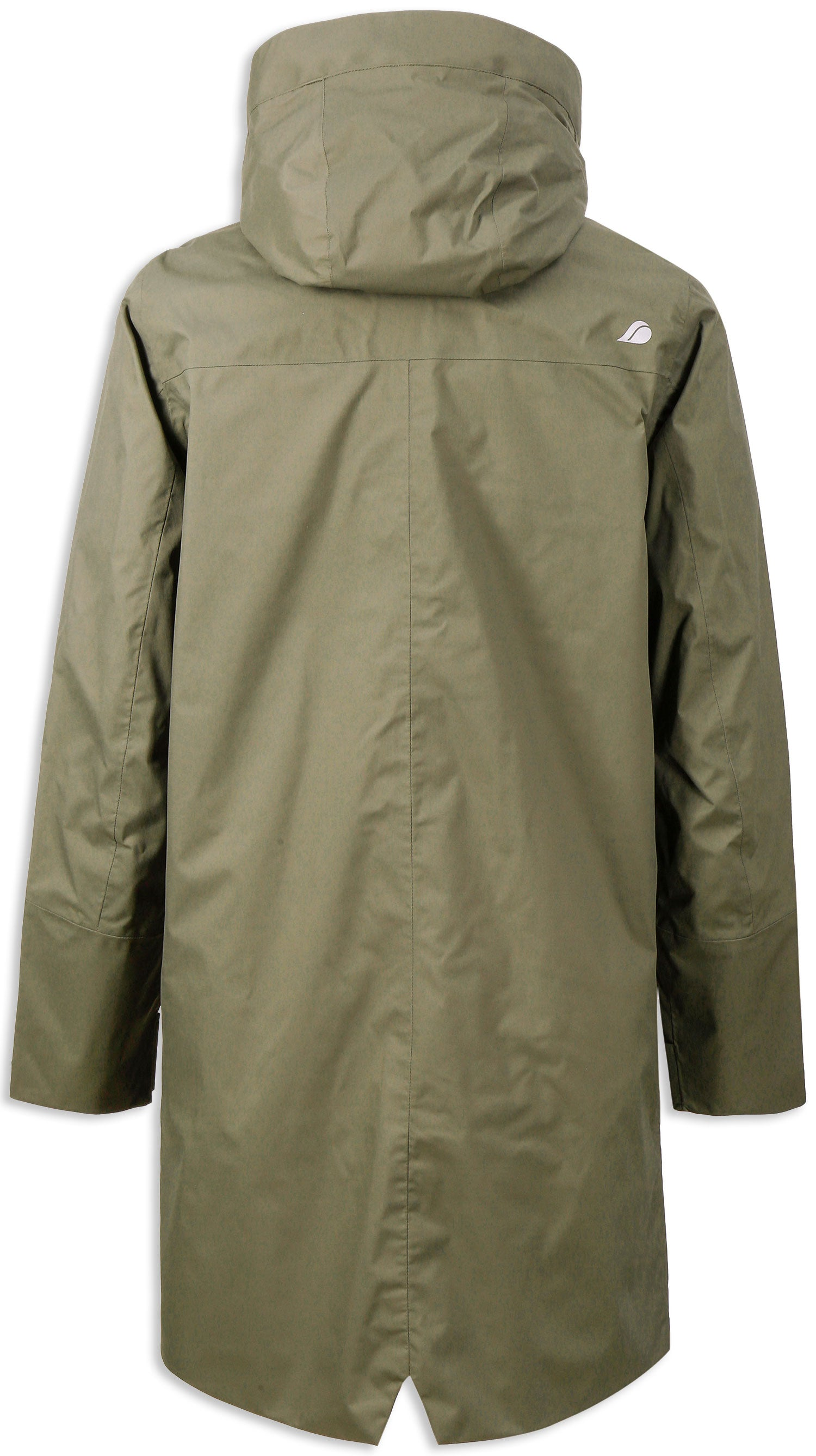 Reverse view Fog Green Didriksons Arnold 2 Waterproof Parka