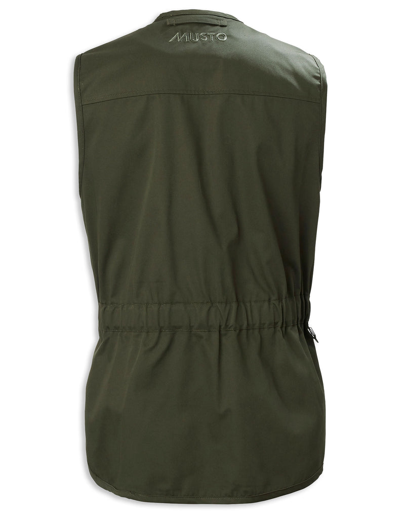 Back Green Musto Clay Shooting Vest
