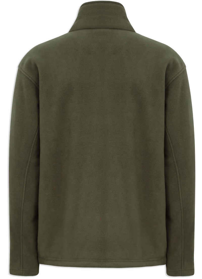 Back View Champion Otley Fleece Jacket Olive