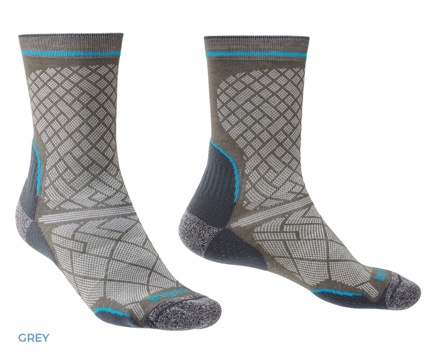 Grey Bridgedale Hike Ultra Light T2 Boot Sock