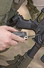 Military Leatherman Tool - Adjusting Gun