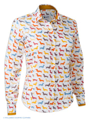 Hartwell Layla Cotton Shirt | Colourful Dachshunds