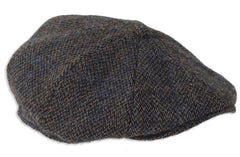 Heather Arran 8-Piece Harris Tweed Cap | Grey