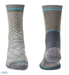 Grey Blue Hike Ultra Light Coolmax® Performance Boot Sock by Bridgedale