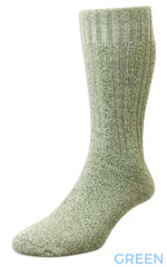 green HJ Hall Cotton Rich Boot Sock
