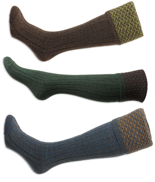 HJ Hall Hatfield Shooting Sock | Textured Top