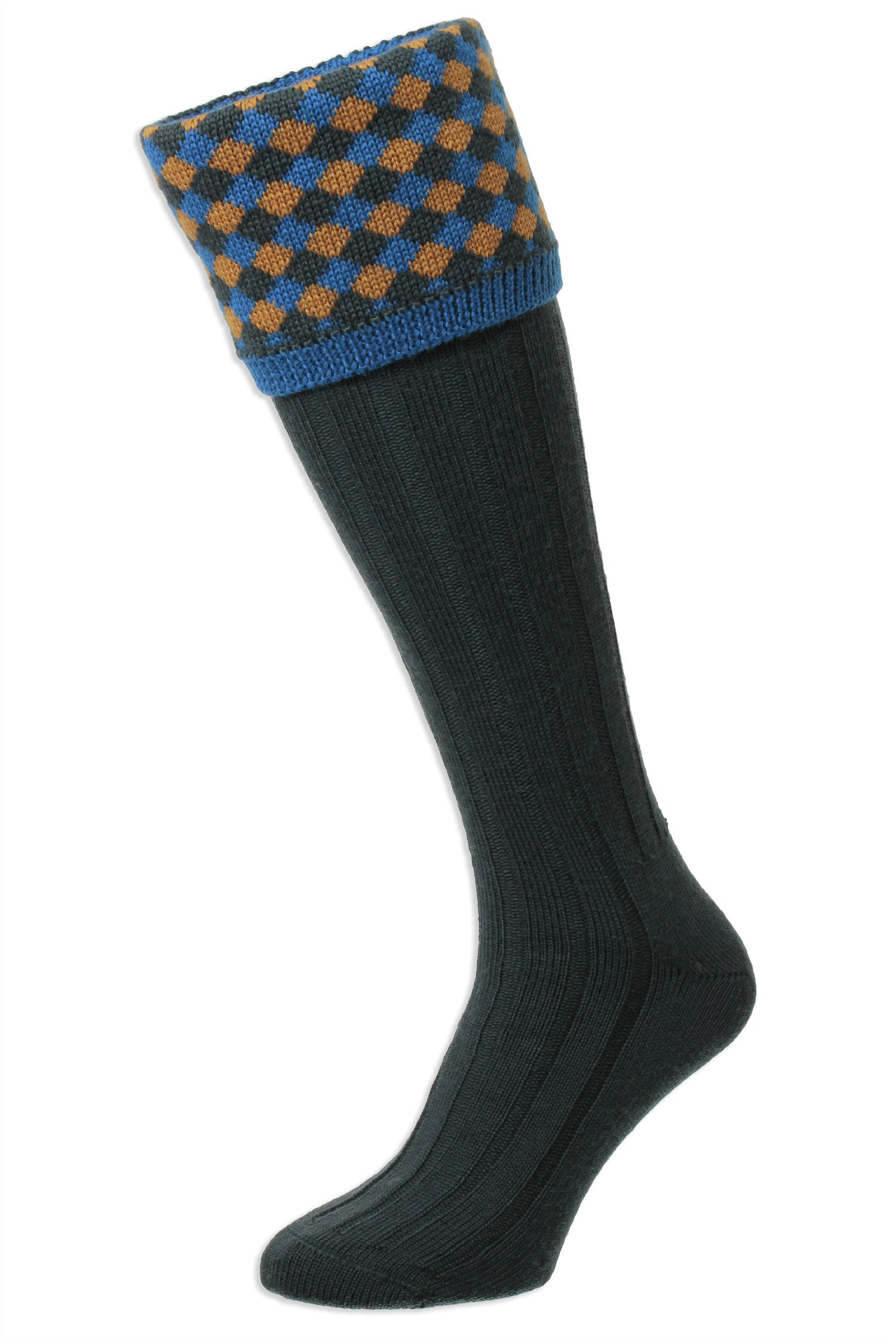 Racing Green HJ Hall Hadleigh Shooting Sock | Harlequin Top