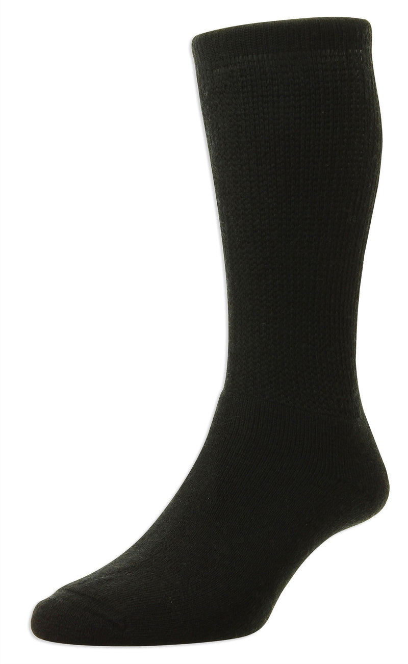 black HJ Hall Diabetic Socks | Wool