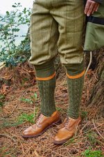 Orange and Green Contrast Stripe Shooting sock