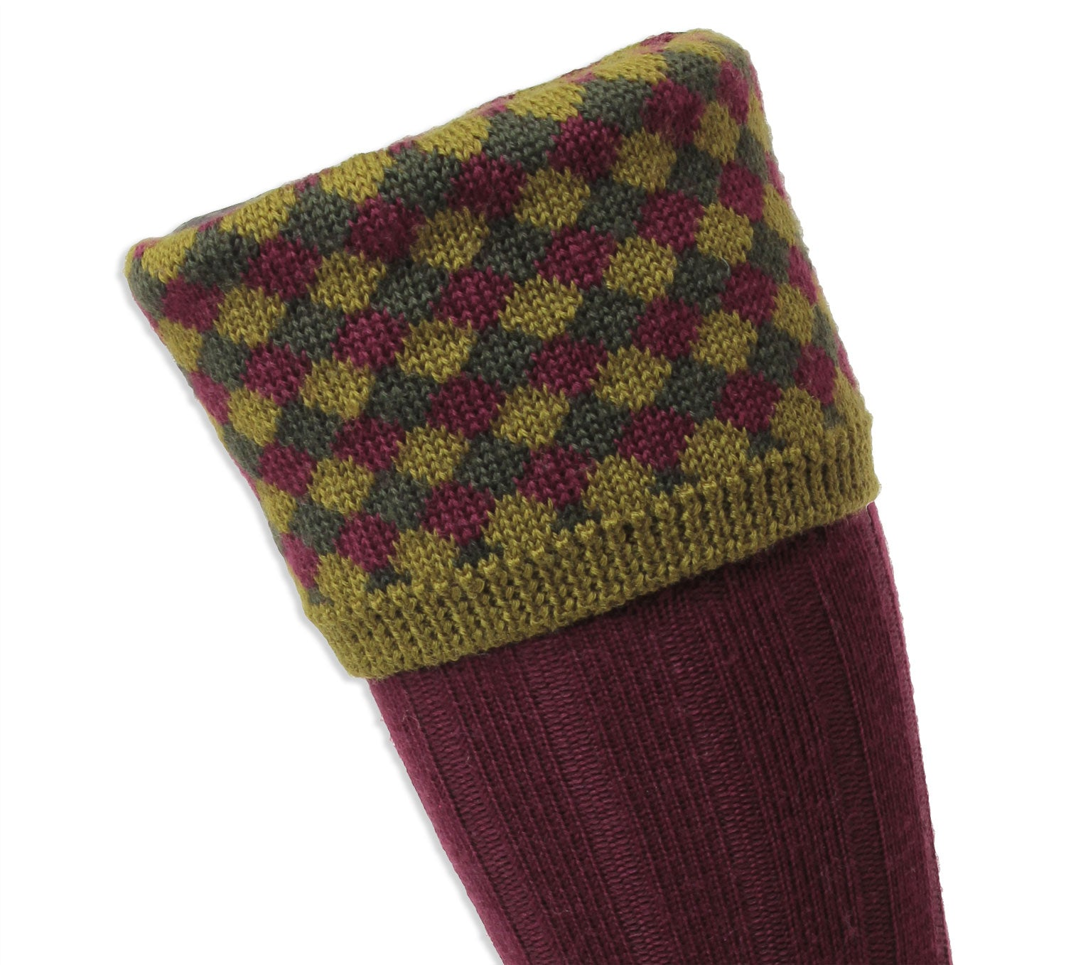 Harlequinn top pattern sock