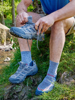 hiking boots and Protrek Coolmax Warm Weather Hiking Sock