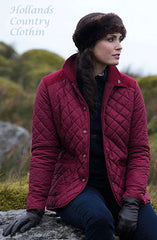 lady wearing Jack Murphy Haley Ladies Diamond Quilted Jacket